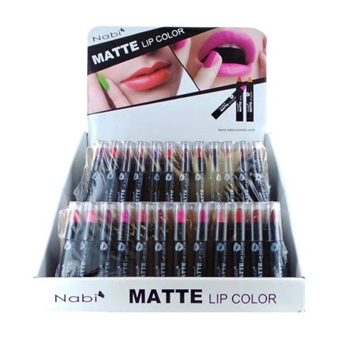 Nabi Lip Glos Mate Isi 12 12pc nabi cosmetics professional selected matte lip color lipstick set of 12 shades daily