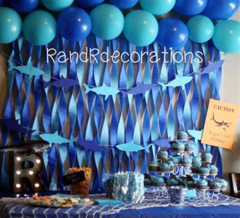 baby shark decorations shark banner birthday decorations shark cutouts boy