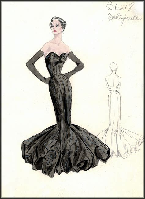 vintage fashion design sketches bergdorf goodman house