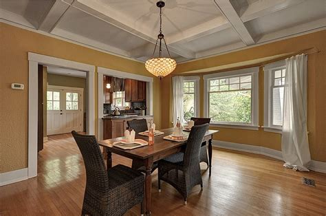 mission style dining room craftsman style