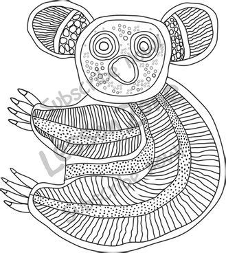 show me more kangaroo aboriginal colouring pages