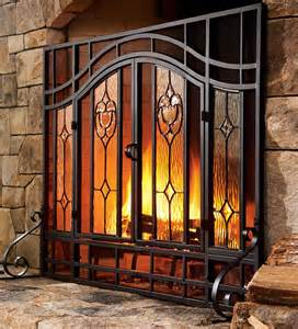 floral fireplace screen fireplace plow hearth