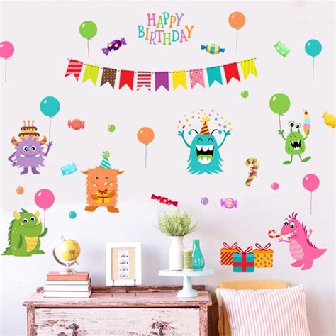 Wall Sticker Dinding Edukatif Untuk Anak Walpaper Paper Stiker 20 collection of happy birthday wall wall ideas