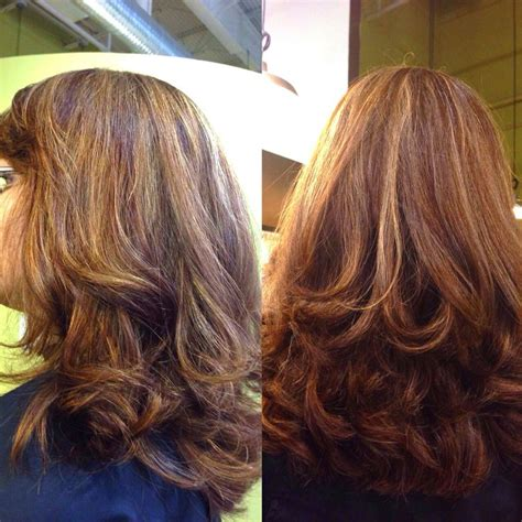 full foil highlights full foil honey caramel highlights hair cut hair