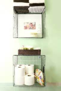Wire Bathroom Storage Try This Hanging Baskets For Bathroom Storage A Beautiful Mess