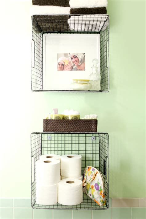 hanging baskets bathroom try this hanging baskets for bathroom storage a