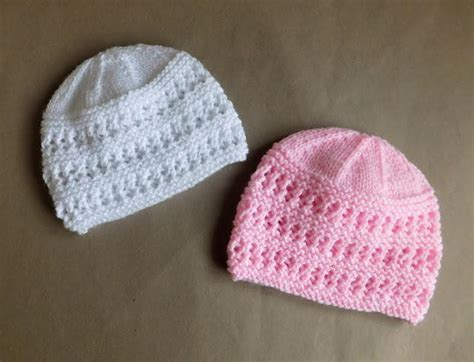 easy to knit baby hat two baby hat knitting patterns allfreeknitting
