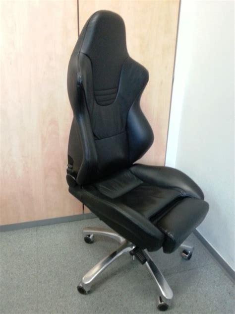 B 252 Rostuhl Recaro Sport Schwarz Leder Office Stuhl