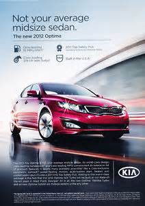 2012 kia optima original car advertisement print ad j154