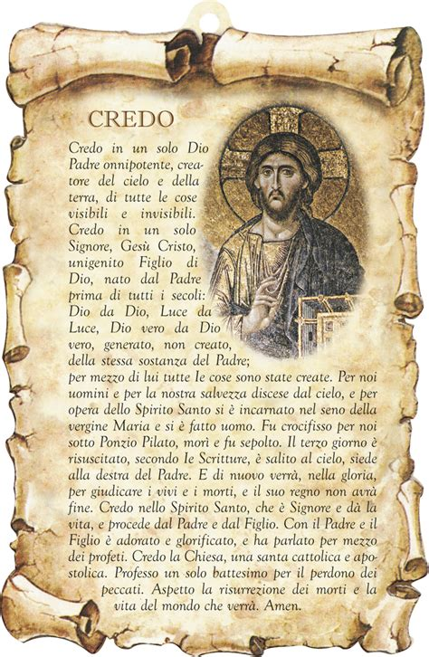 credo cattolico testo credo images