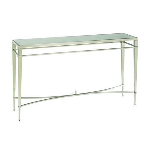 sectional tables hammary mallory sofa table in brushed nickel 173 925