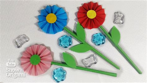 Autumn Design Paper Craft Origami Kertas Lipat bunga dari kertas tisu oh mudahnyaaa totbakedesigntv cara membuat kerajinan tangan dari kertas