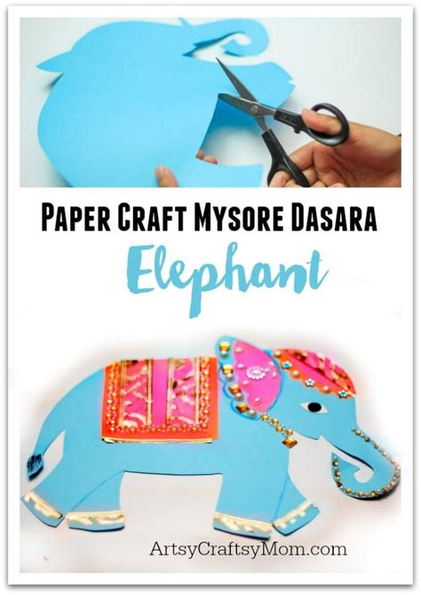 Elephant Paper Craft - mysore dasara elephant paper craft indian elephant