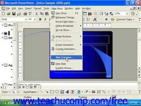 2003 powerpoint tutorial videos powerpoint 2003 tutorial adding slide animation 2000 97