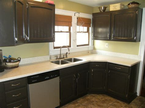 painting kitchen cabinets dark brown painted projects