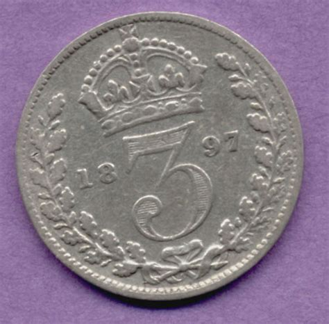 ebay old coins great britain 3 pence 1897 old silver british uk coin ebay