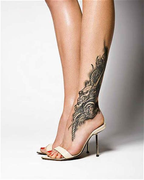 tattoo dragon on foot grey ink dragon tattoo on foot for women