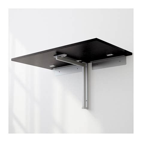 Wall Mounted Drop Leaf Dining Table Bjursta Wall Mounted Drop Leaf Table Brown Black 90x50 Cm Ikea