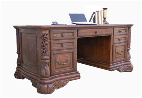 Ornate Executive Desk by Mahogany And More Item Up