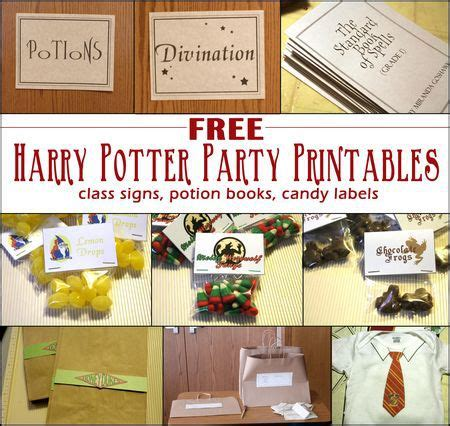 7 harry potter craft ideas printables download free harry potter party printables party ideas