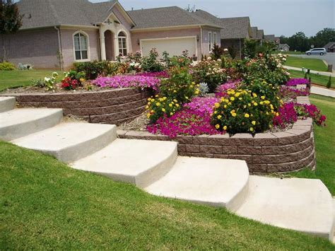 garden ideas for sloping backyards steep sloped back yard landscaping ideas sloped front