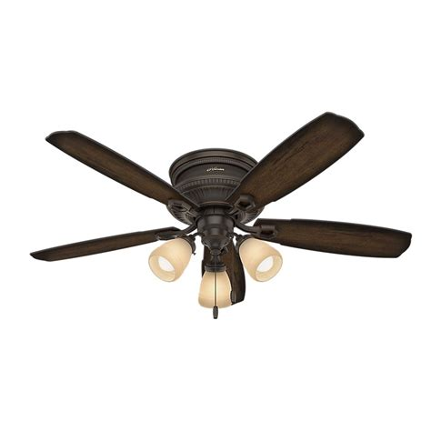 hunter 52 onyx bengal bronze ceiling fan hunter ambrose 52 in led indoor onyx bengal bronze low