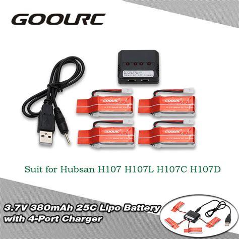 Original Battery Baterai Hubsan 37v 380mah H107d H107c Yz X4 Dll goolrc 4pcs 3 7v 380mah 25c litio bater 237 a y 4 puertos