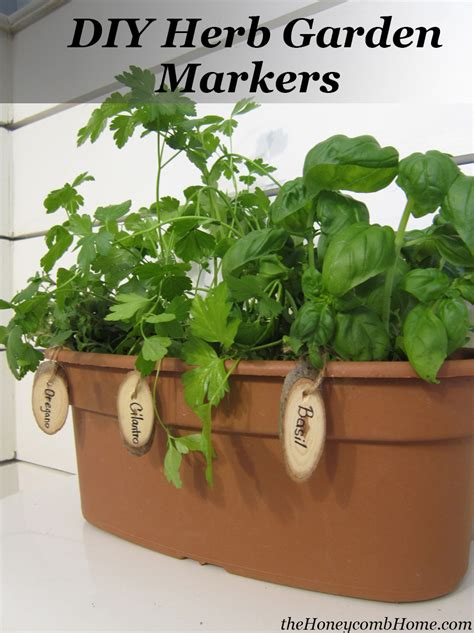diy herb garden herb garden markers a giveaway the honeycomb home