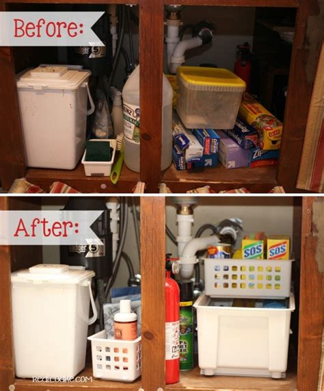 under kitchen sink organizing ideas organizing tips for under the sink from messy to organized