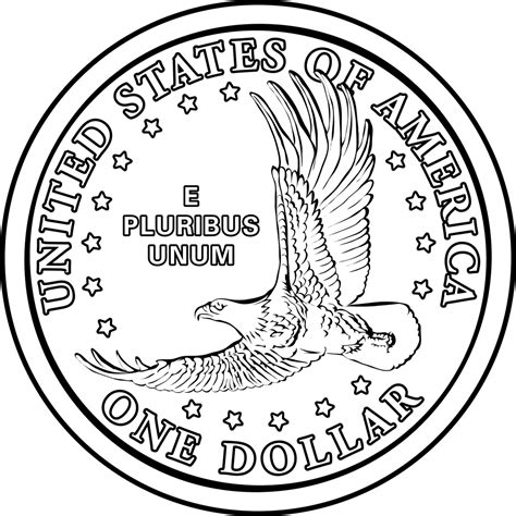Drawing Quarter by Dollar Coin Clipart