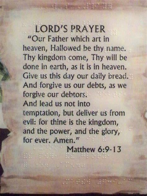 printable version of the lord s prayer the lord s prayer matthew 6 9 13 new international