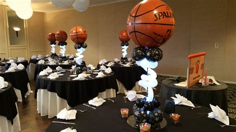 How To Make A Topiary - basketball bar mitzvah balloon decoration in maryland dc and virginia