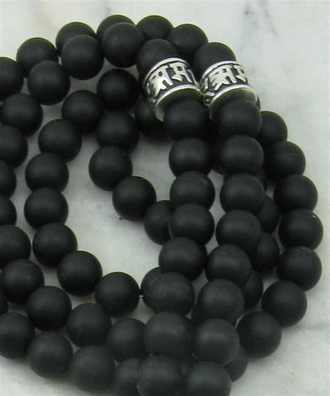black bead s mala necklace 108 mala for buddhist