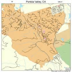 portola valley california street map 0658380