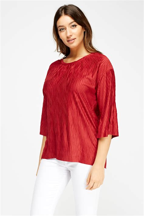 Neck Pleated Top neck pleated top 3 colours just 163 5