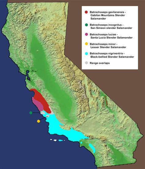 california mountain ranges map gabilan range
