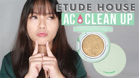 cushion untuk kulit berjerawat etude house ac clean up