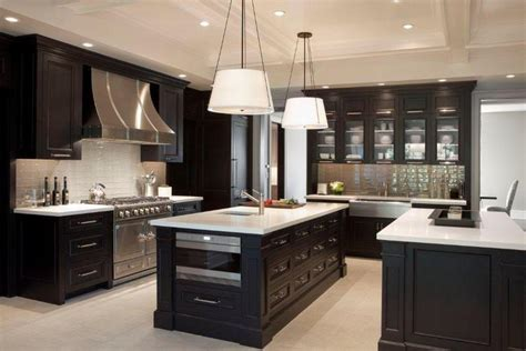 dark cabinet kitchen ideas kitchen decorating ideas for dark brown cabinets info