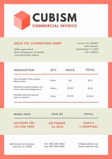 canva invoice invoice templates canva