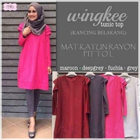 Baju Atasan Muslim Wanita Tunik Dress Gamis Busana Set atasan baju muslim wingkee tunic wingkee tunic grosir baju muslim pakaian wanita dan busana