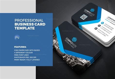 business card template for ps business card template ps print choice image card design