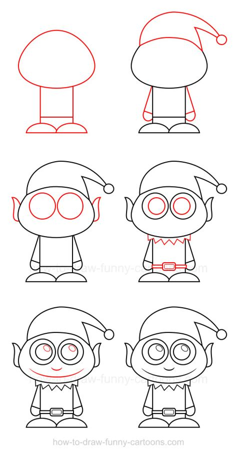 christmas drawing step by step and gift to gift cartoon how to draw an