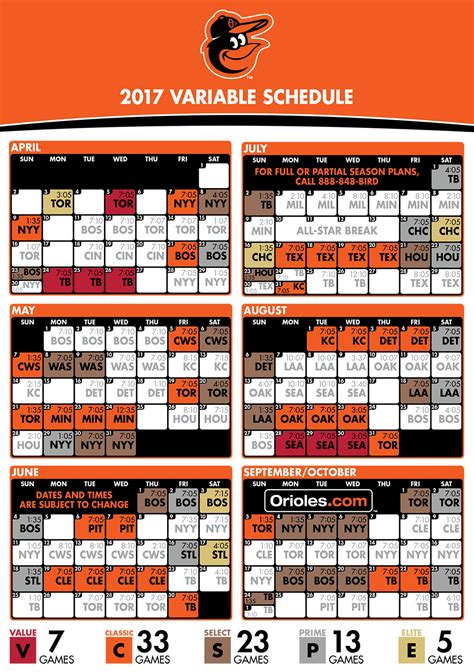 printable orioles schedule orioles variable pricing schedule mlb com
