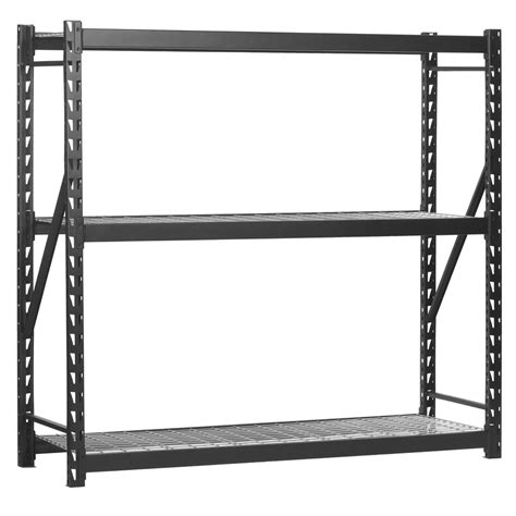 Shop Edsal 72 In H X 77 In W X 24 In D 3 Tier Steel Freestanding Shelving Unit