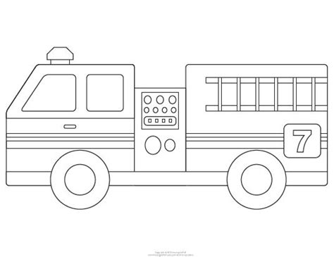 fire truck template dibujos 1 drawings 1 pinterest