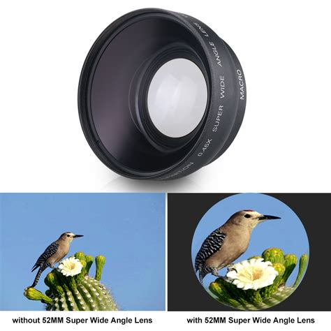 wide angle digital 52mm 0 45x digital wide angle lens for canon rebel t5i t3i