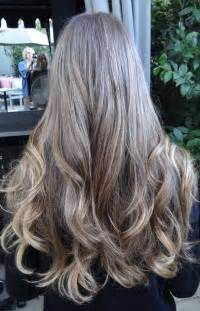 Gray highlights in brown hair long hairstyles