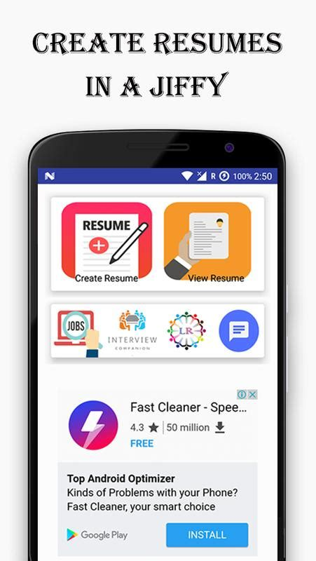 Free Auto Resume Maker by Resume Builder For Android Apk