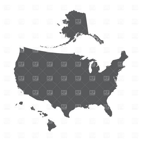 outline map of us with alaska and hawaii usa map outline with alaska and hawaii signs symbols maps