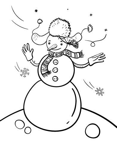 snowman coloring page pdf printable snowman coloring page free pdf download at http